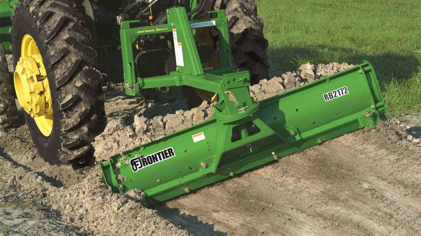 field image of Frontier RB21 series rear blade attached to tractor