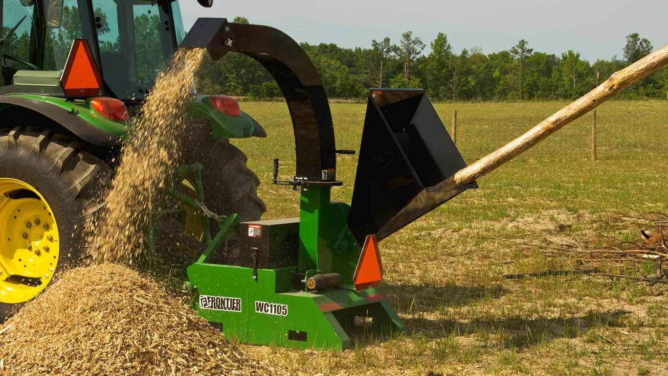 Field image of Frontier WC11 series wood chipper