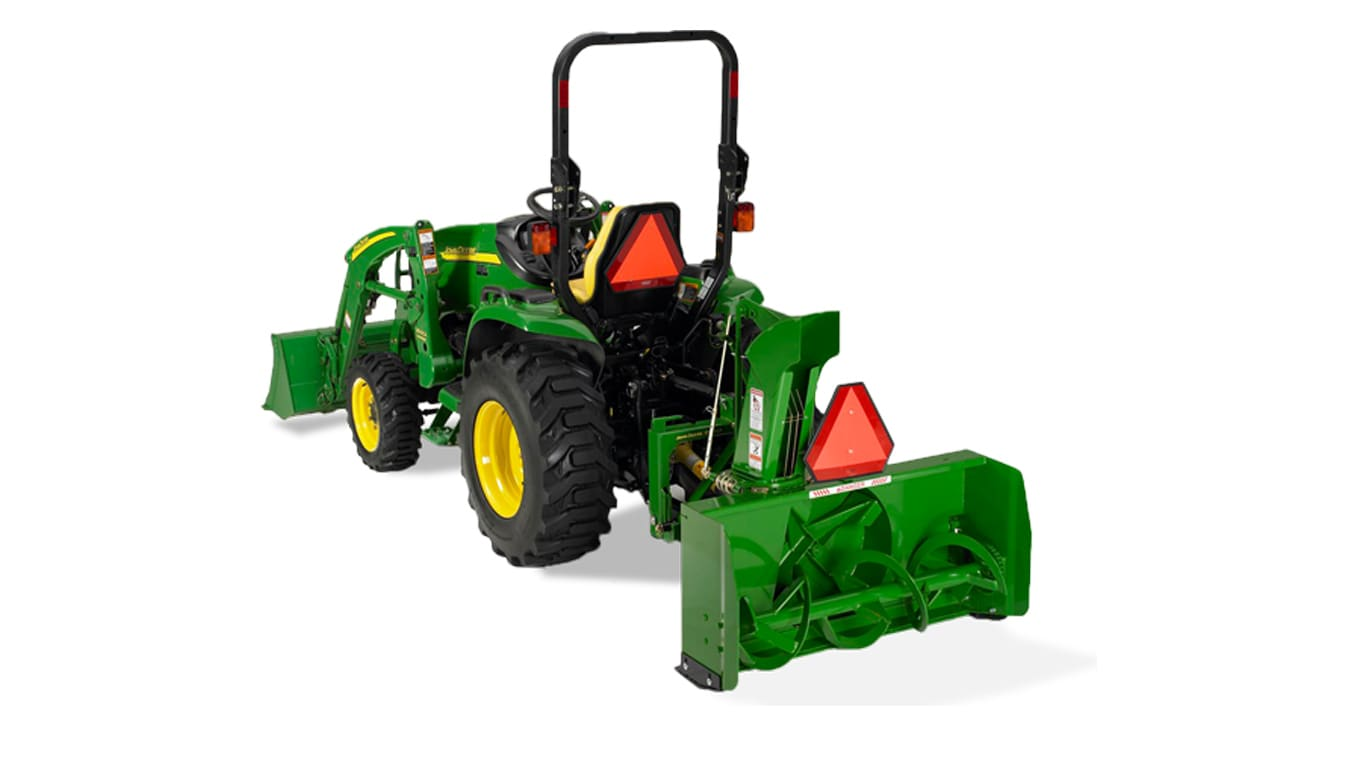 studio image of sb11 snow blower attached to tractor
