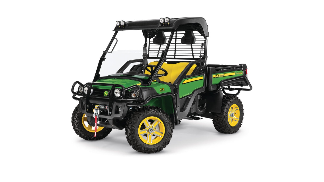 Three-quarter view of xuv825i power steering Crossover Gator utility vehicle