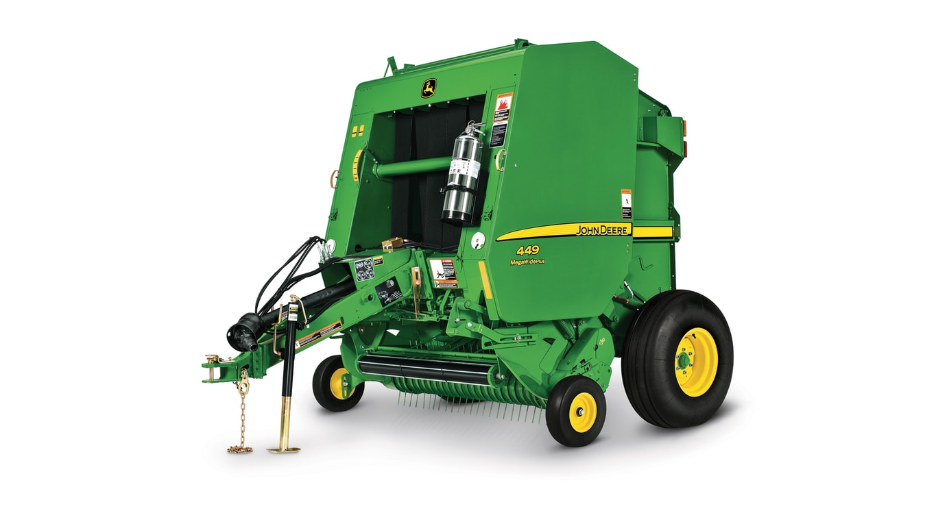 Studio image of 449 round baler
