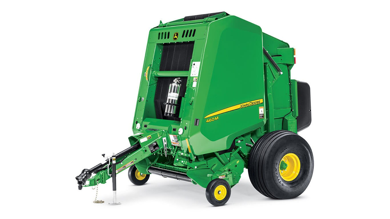 Round Balers, Round Bale Accumulators, Small Square Balers, Mower-Conditioners, and Disc Mowers