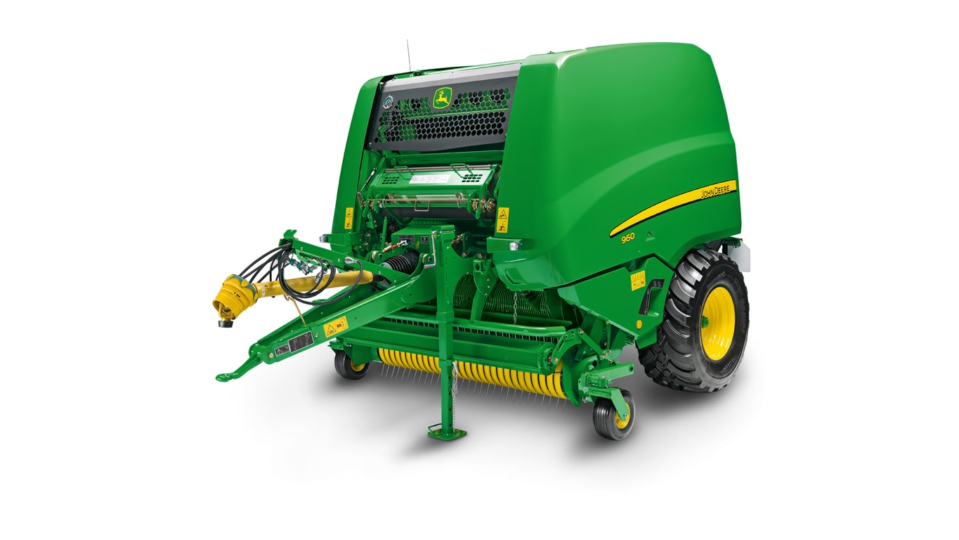 Studio image of 960 round baler
