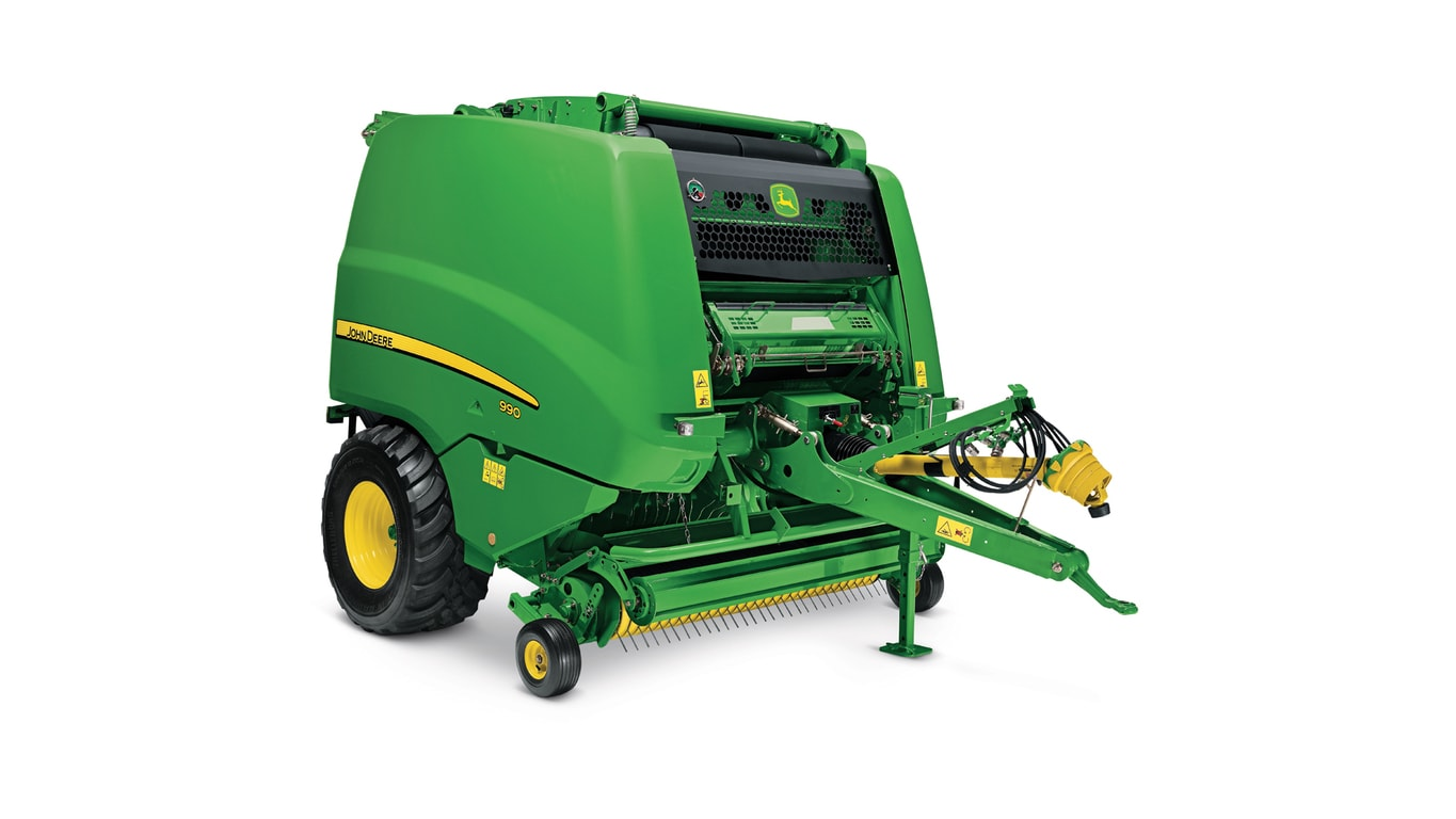 Studio image of 990 round baler