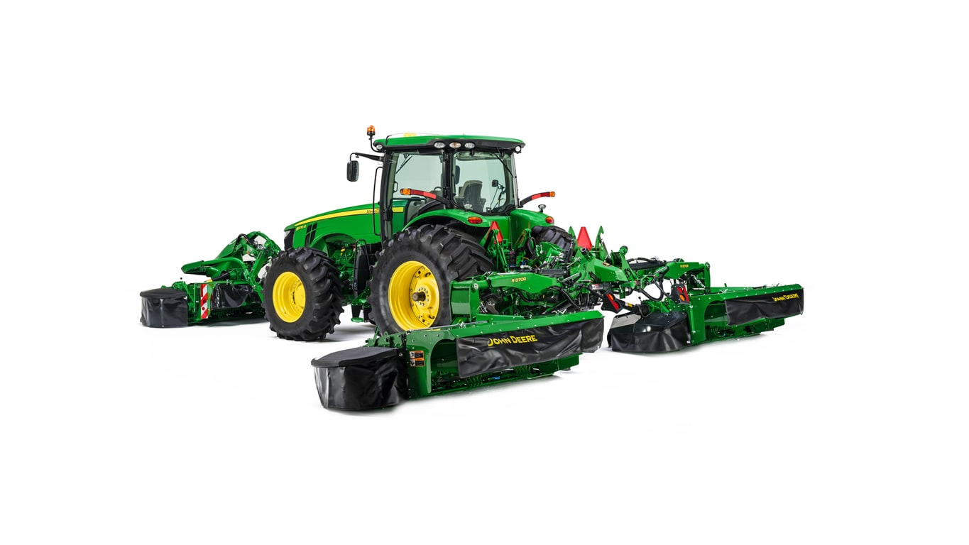Studio image of R870R Rear Mount Mower Conditioner