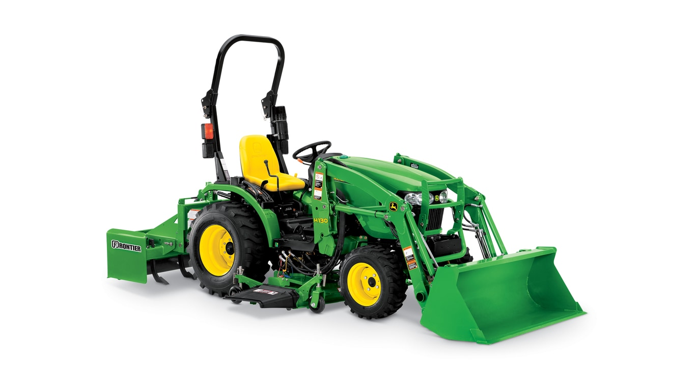 Front end loaders h130 loader john deere us for Small garden tractors with front end loaders