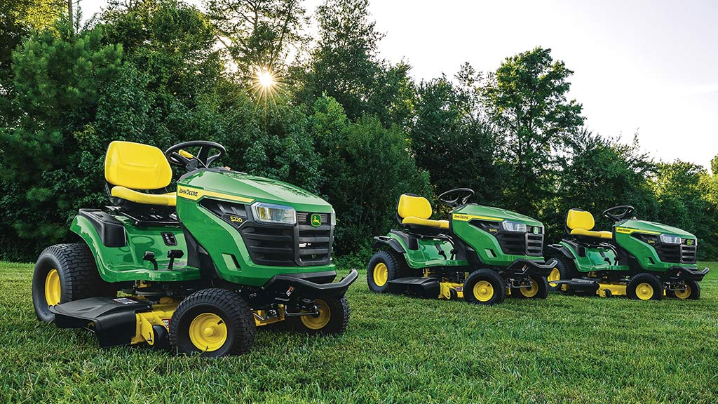 image of 3 lawn tractors