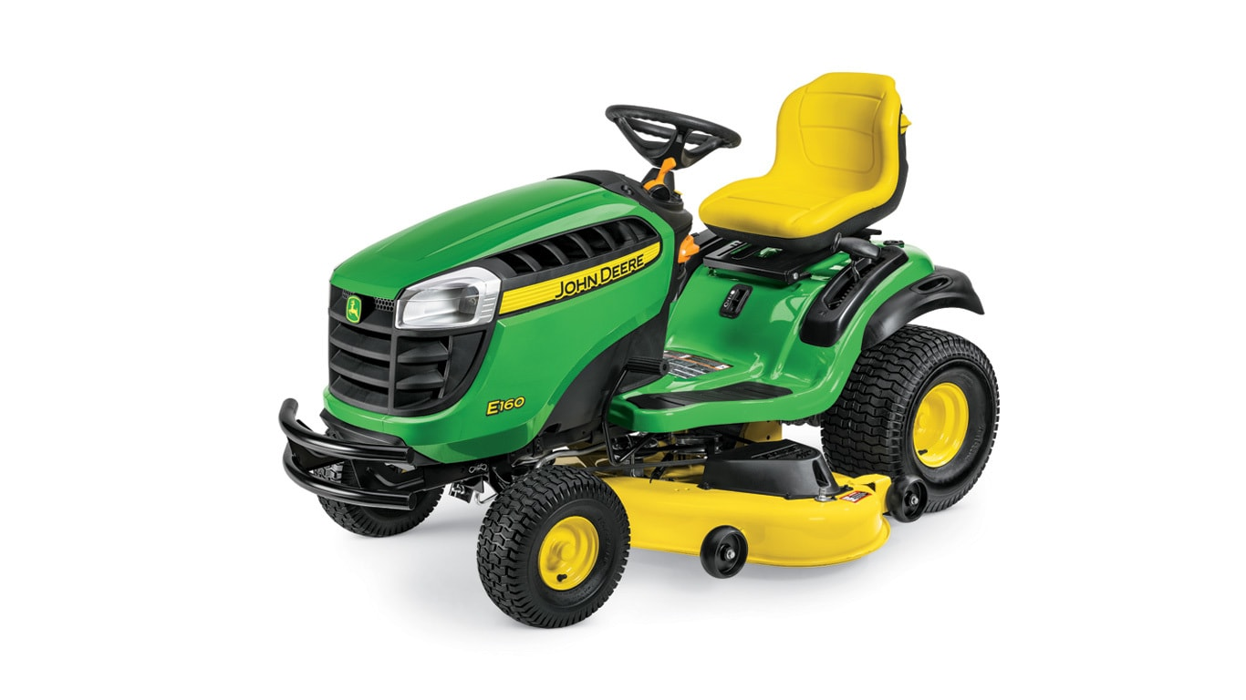 studio image of the E160 lawn mower