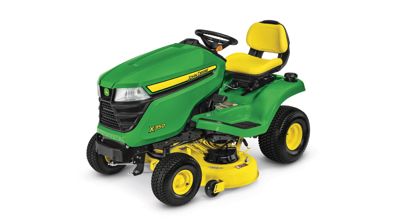studio image of the X350 series lawn mower with 42-in deck