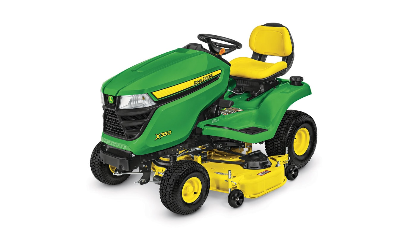 studio image of the X350 lawn mower with 48-in deck