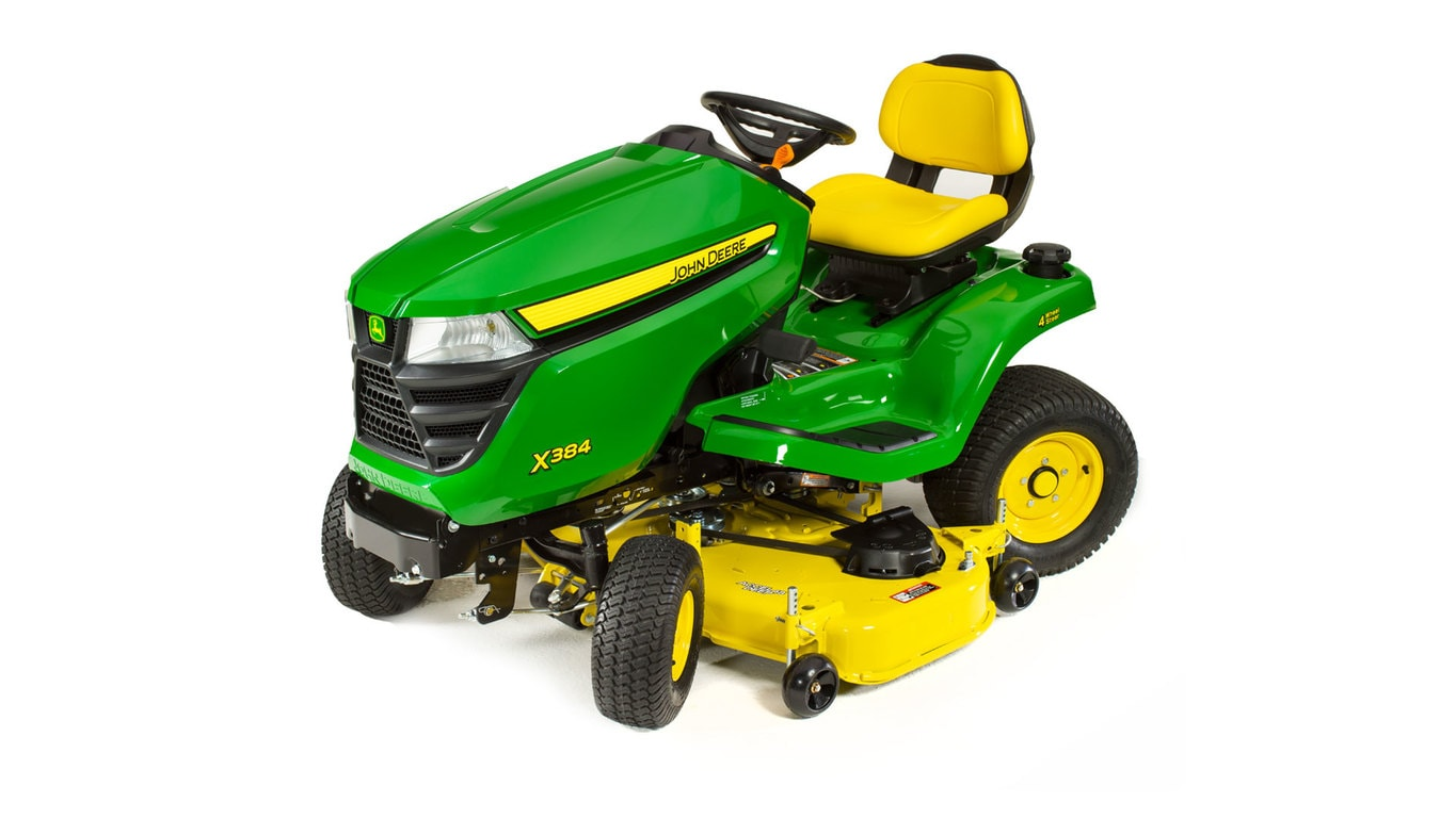 studio image of the X384 series lawn mower