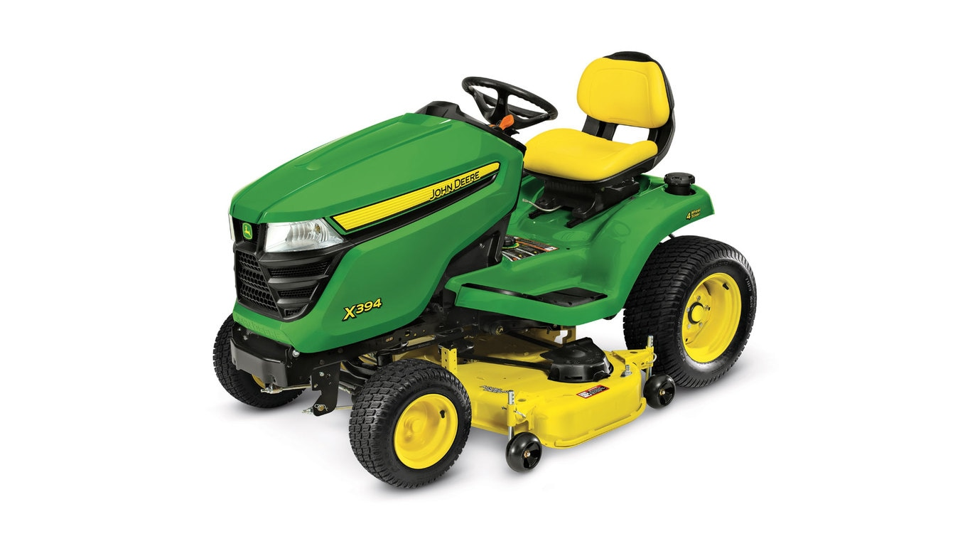 studio image of the X394 series lawn mower