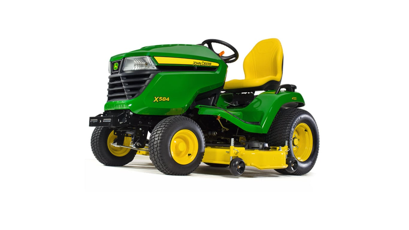 X500 Select Series Lawn Tractor X584 48 Or 54in Deck John. Threequarter View Of X584 Lawn Tractor. John Deere. 52 John Deere D110 Parts Diagram At Scoala.co