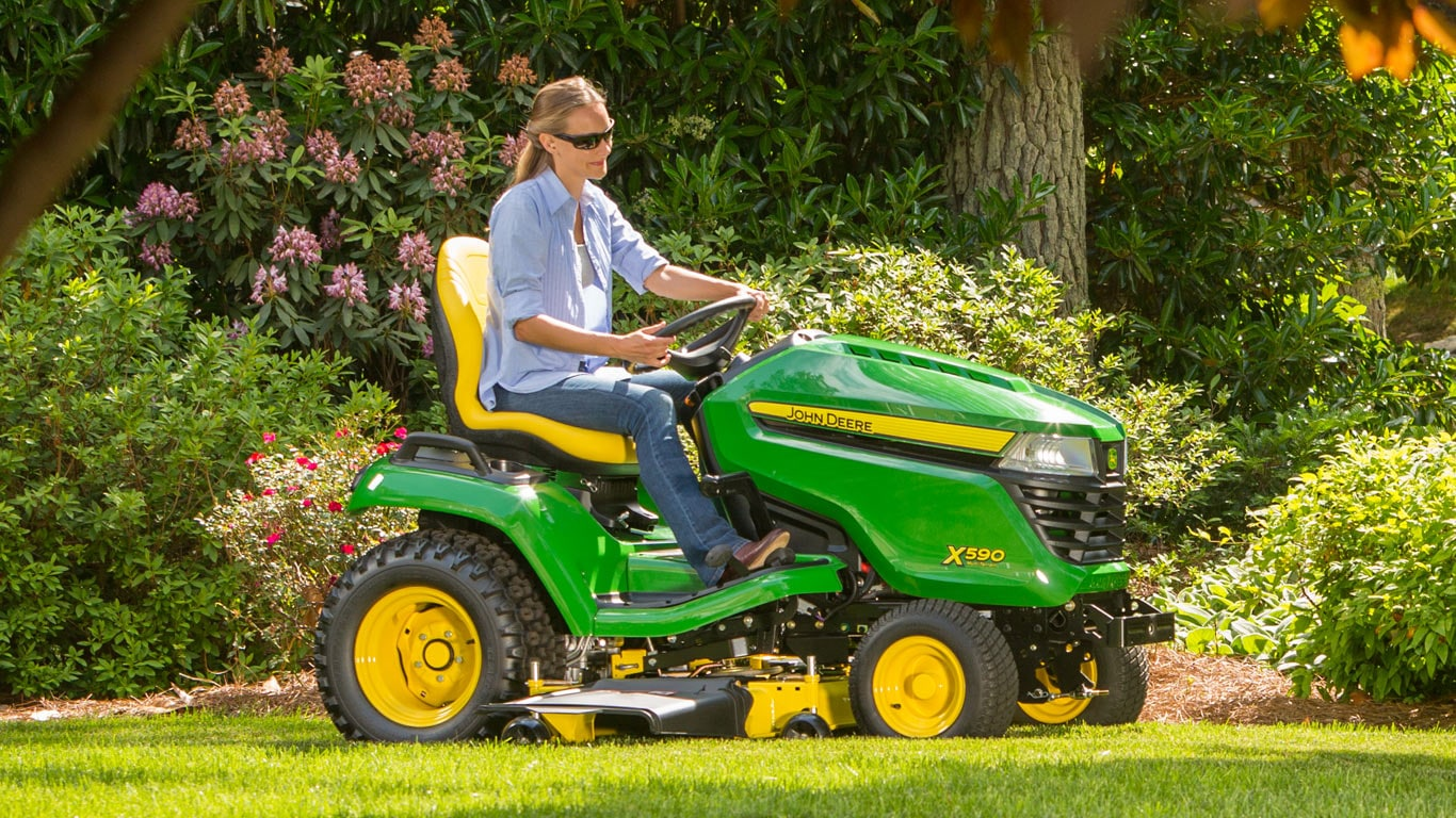 Man On Tractor Lawn Enforcment : X select series tractors lawn john deere us