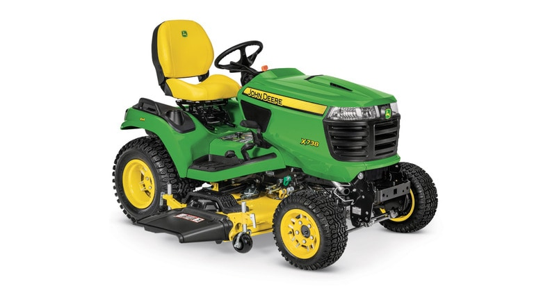 Studio image of x738 with 54in mower