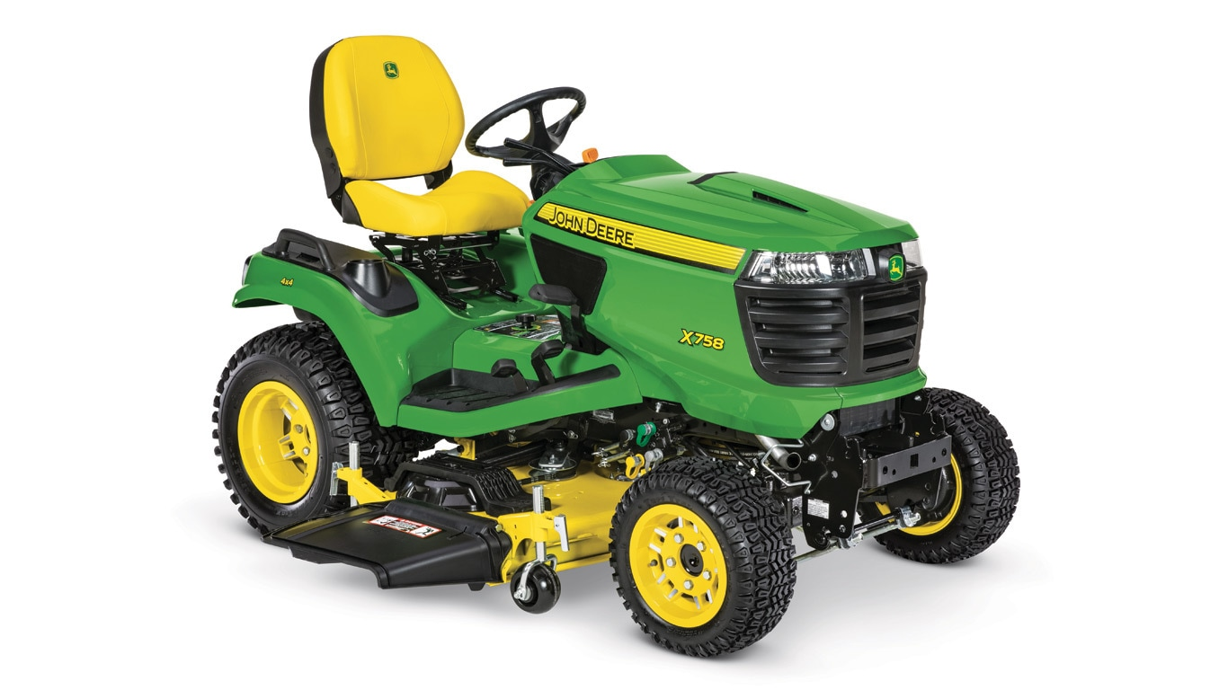 Studio image of x758 Lawn Tractor with 54in mower