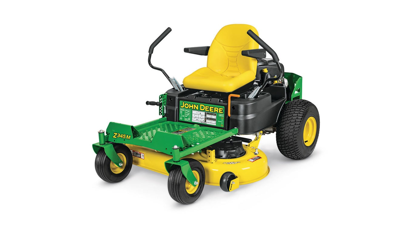 Three-quarter view of Z345M Residential ZTrak Mower