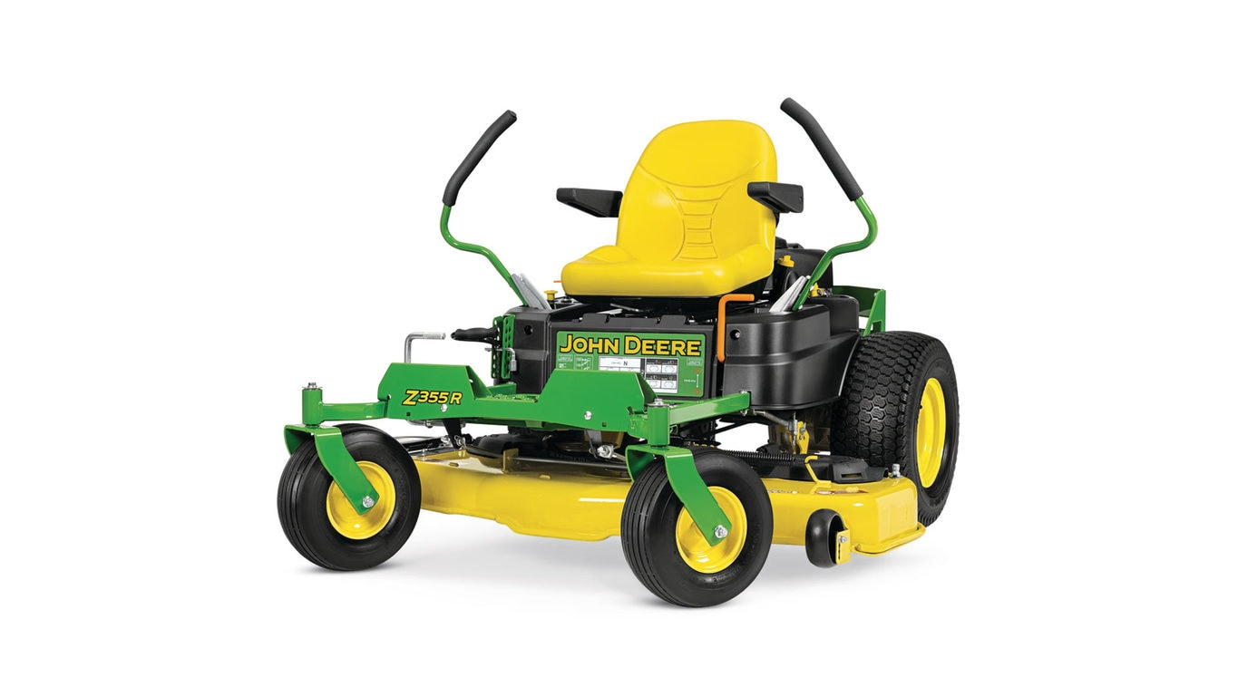 Three-quarter view of Z355R Residential ZTrak Mower
