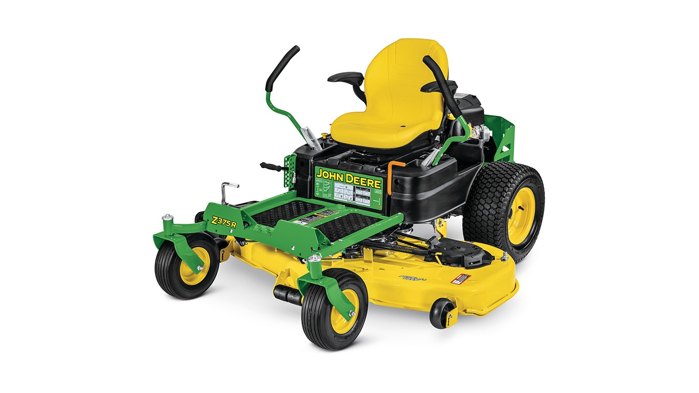 studio image of Z375r zero turn mower