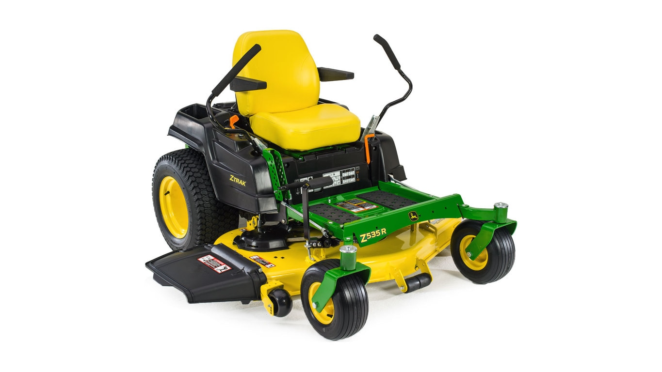 Three-quarter view of Z535R Residential ZTrak Mower