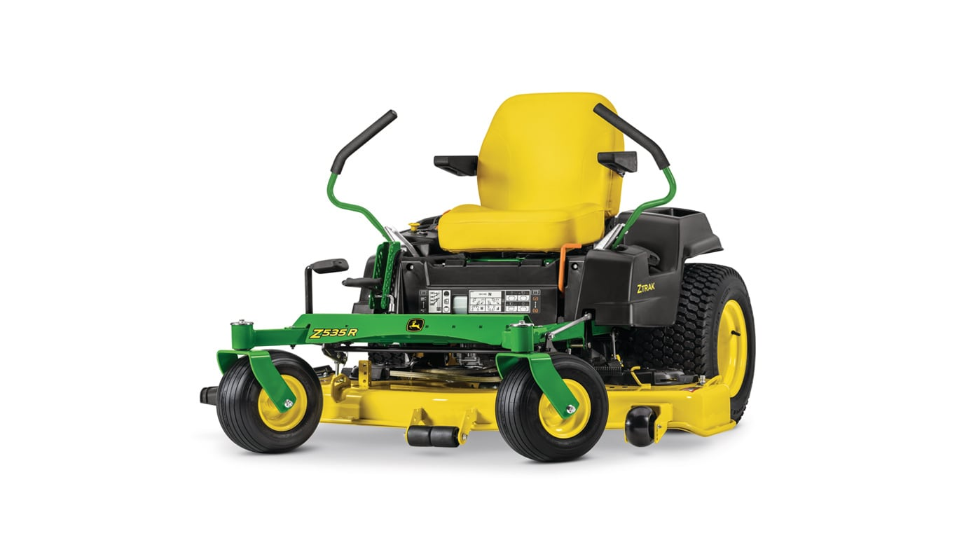 studio image of Z535R ZTrak mower with green handles