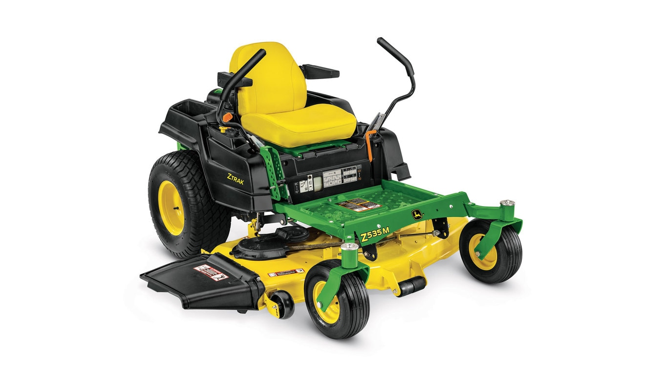 Three-quarter view of Z535M Residential ZTrak Mower