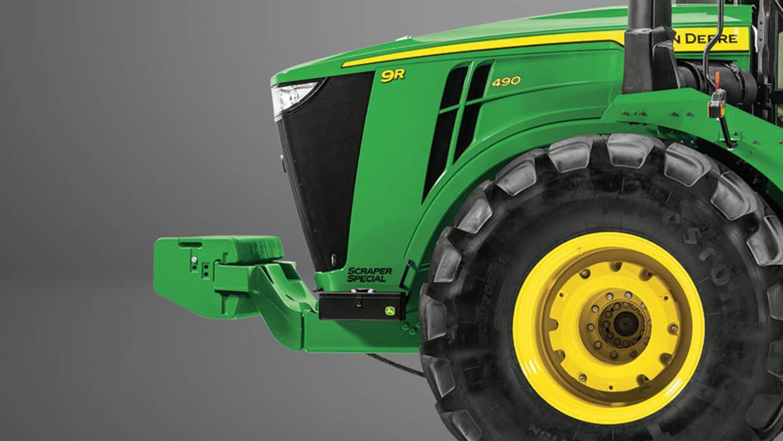 Studio Image of a 9R 490 Scraper Special Tractor