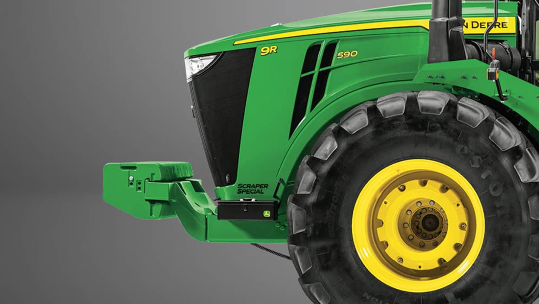 Studio Image of a 9R 590 Scraper Special Tractor
