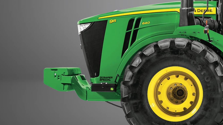 Studio Image of a 9R 640 Scraper Special Tractor