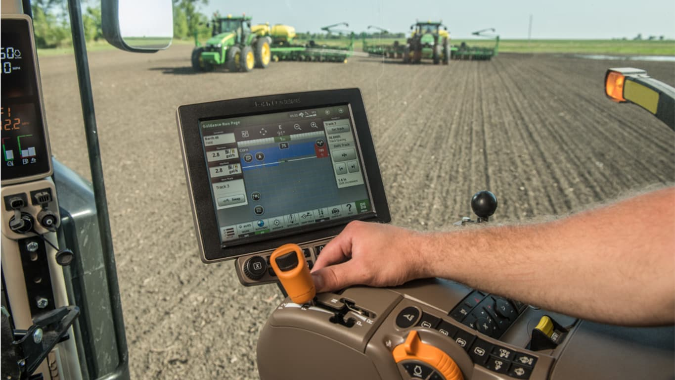 Photo using John Deere in-field-data-sharing precision ag technology