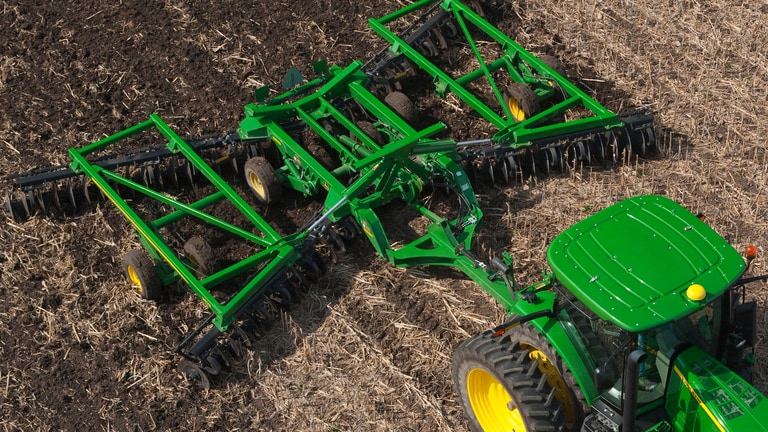 Three-Section Tandem Disks for Primary Tillage