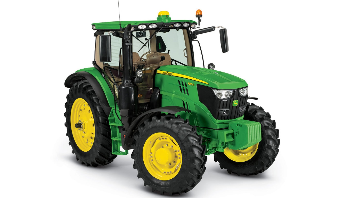 Studio image of 6155r Row Crop Tractor