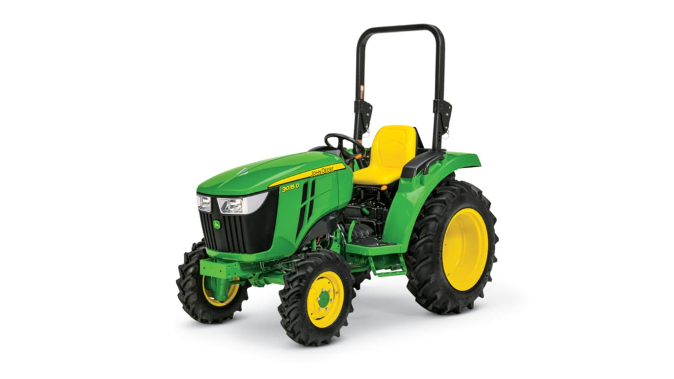 studio image of the 3035D Compact Tractor