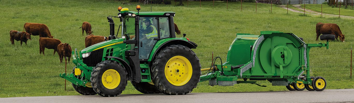 6m tractor with rotary cutter