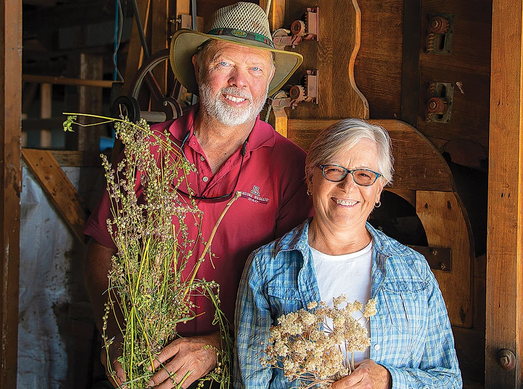 Couple with dried flowers
