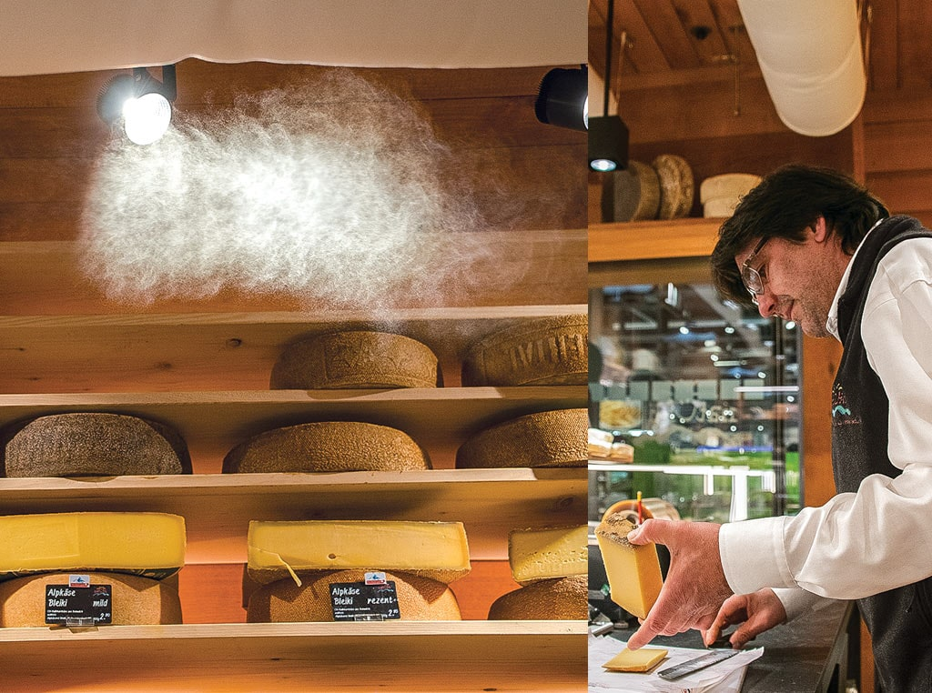 cheese shown in humidor