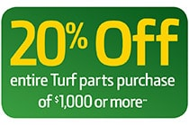 20% OFF Turf Parts*