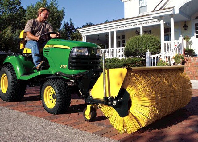 Rotary Broom Sweeper : John deere inch quick hitch rotary broom snow removal