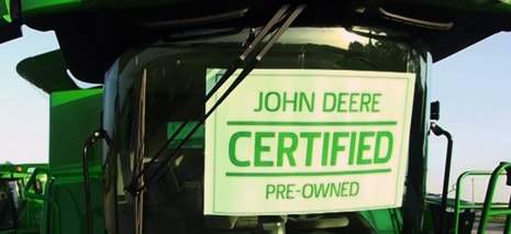 Image showing tractor with certified pre-owned sign in window