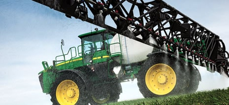 Image of sprayer spraying field