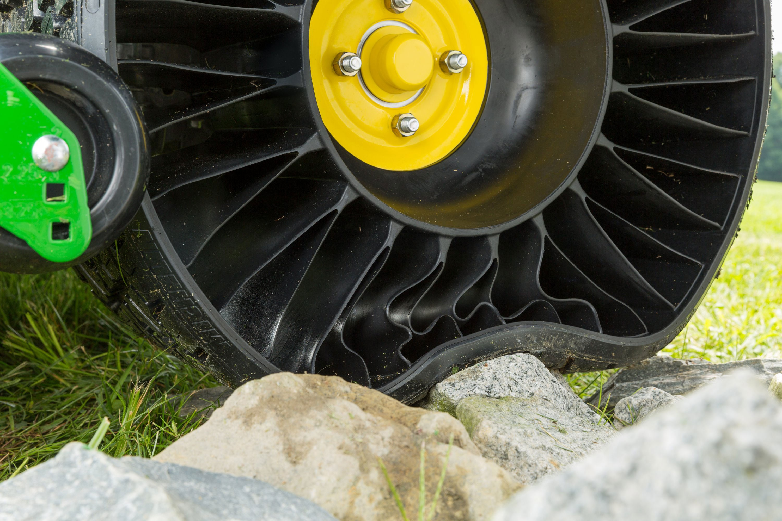 X TWEEL Turf flexes over rocks to make for a more comfortable ride