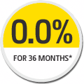 Image showing 0.0% interest for 36 months