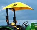 Umbrella over a Tractor Seat
