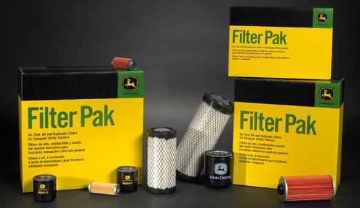 Photo of Filter Pak boxes on display