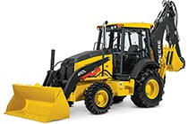 Studio view of the 410L Backhoe Loader