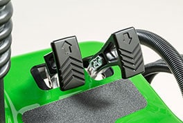 Close-up image of AutoPedal twin pedals