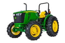 Image of a John Deere 5085E Series Utility Tractor.