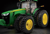 8R series tractor with focus on the tires