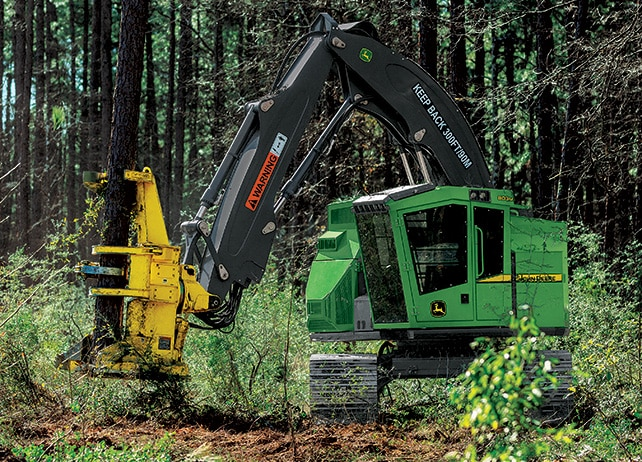 803M Tracked Feller Buncher at work in the forest