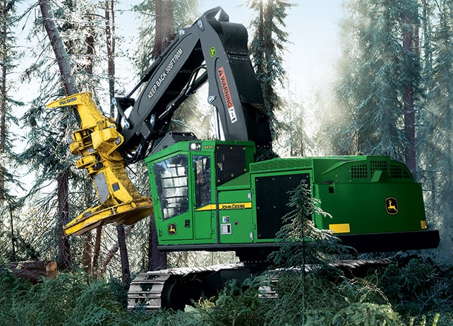 953M Tracked Feller Buncher at work in the forest